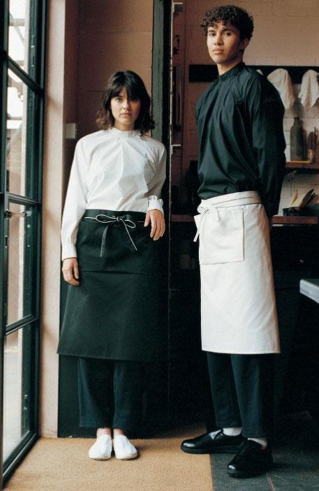Black and white cafe uniform