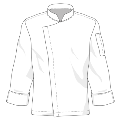 Premium Chef Jacket Long Sleeve by YH