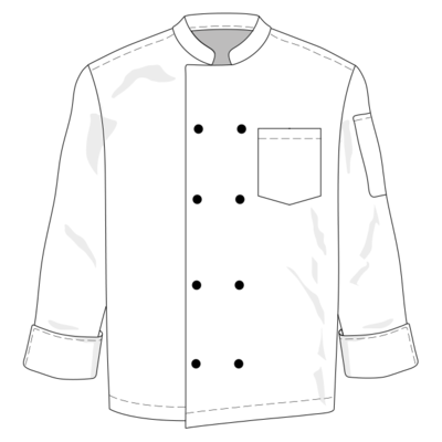 Basic Chef Top Long Sleeve by YH